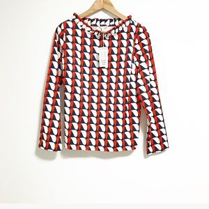 COS. Long sleeve ruffly blouse.  size 8.